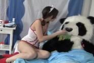 Pretty Horny Nurse Hot Sex With Panda