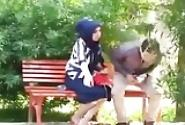 Turkish Porn Hijab Blowjob Cumshot In The Park